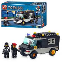 Конструктор SLUBAN M 38 B 1600 (72шт) Военная полиция, машинка, фигурки, в кор-ке, 24-14-4.5см