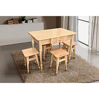 Комплект кухонний стіл+4 табур. (масив бука)