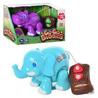 Тварина 13421-2 радіокер., 2 види (слон, бегемот), муз., бат., кор., 26-17-13 см