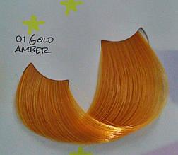 01 Gold Amber Золотой янтарь, крем краска для волос MagiCrazy - Kleral System