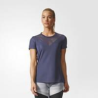 Женская футболка для занятий фитнесом adidas Feminine BR9834 - 2017/2
