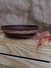 Пиала из красной глины Декор