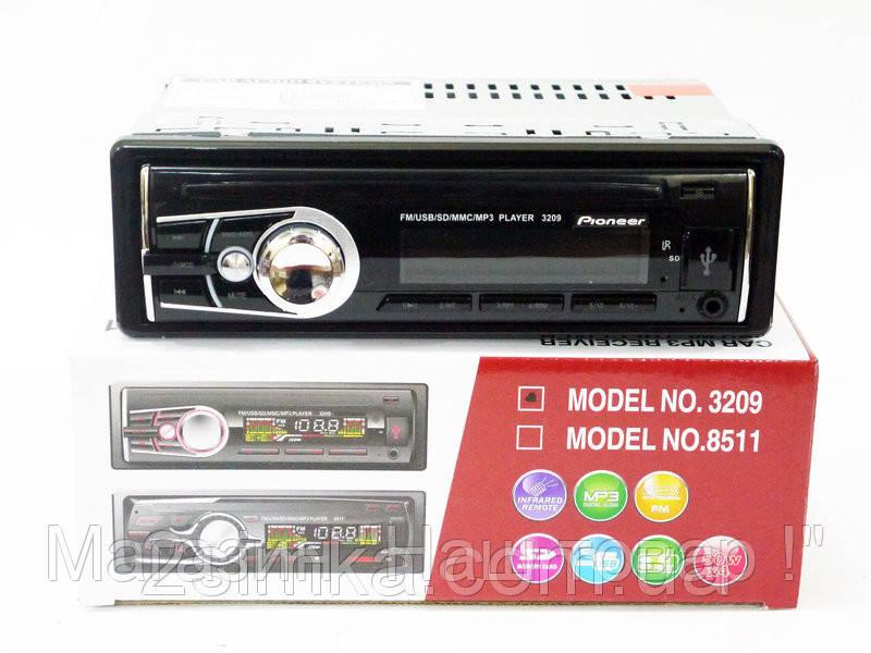 Автомагнитола 3209 Usb+RGB подсветка+Fm+Aux+ пульт (4x50W)!Акция