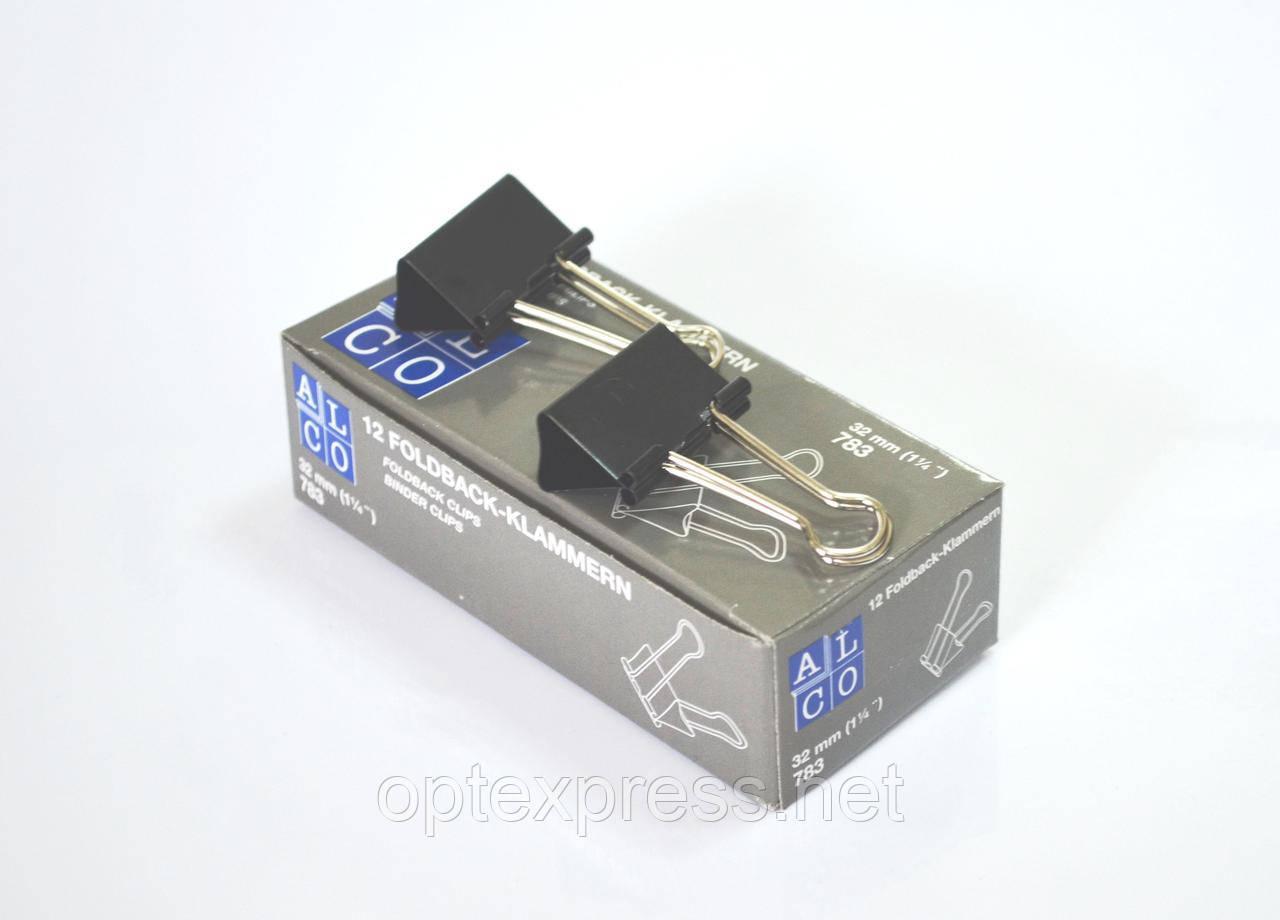 Зажим-биндер металлический для бумаги ALCO