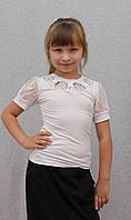 Блузка для девочки белая, фото 1