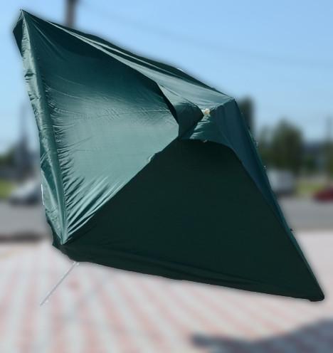 Зонт квадратный с клапаном (3x3 м) для торговли, отдыха на природе (4 метал. спицы, цвета в асс.) HZT /N-03