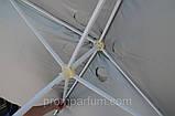 Зонт квадратный с клапаном (3x3 м) для торговли, отдыха на природе (4 метал. спицы, цвета в асс.) HZT /N-03, фото 2