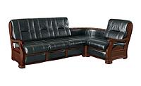 Кутові дивани з деревяними елементами