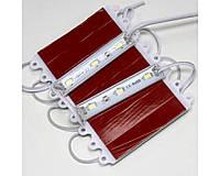 Светодиодный модуль 12V 5630 3-led module warm white