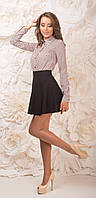 Легкая модная юбка женская Чёрная Милолика Размер 42