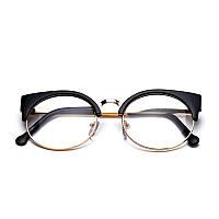 Круглые имиджевые очки в стиле клабмастер