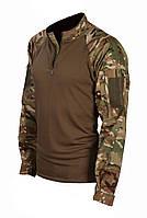 "Рубашка боевая влагоотводящая с карманами на плечах, Мультикам, ""XXS-XXXL"""