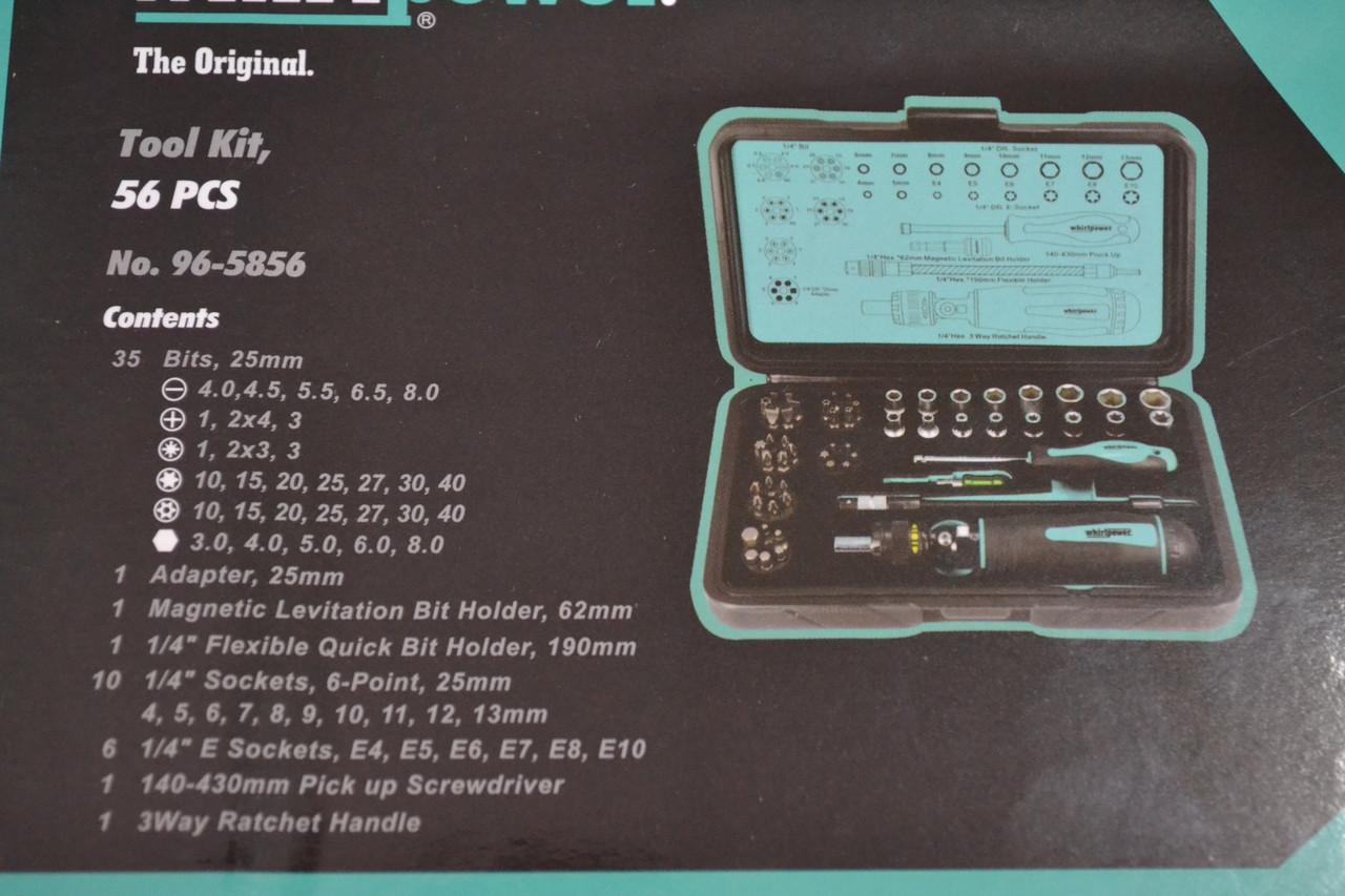 Набір біт Whirlpower 96 - 5856, 56 шт