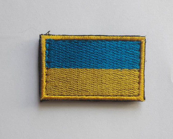 Шеврон Флажок Украины 5*3  на липучке