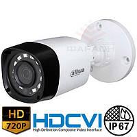 Цилиндрическая HDCVI видеокамера Dahua DH-HAC-HFW1100R-S3 3.6 мм
