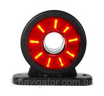 Габарит светодиодный на кабину LED (прямоий короткий красно-белый) L-R