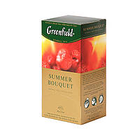 Чай Greenfield  ( Гринфилд ), травяной малина Summer Bouquet Самма Букет  25х2г в пакетиках