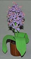 Композиция  гиацинт. Оригинальный подарок на 8-е марта