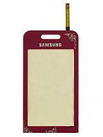 Тачскрин (сенсор) Samsung S5230 La Fleur h/c, Red (красный)