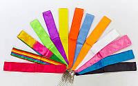 Лента для художественной гимнастики l-6м C-5516 (нейлон l-6м, палочка-металл, l-60см, цвета в ассортименте)