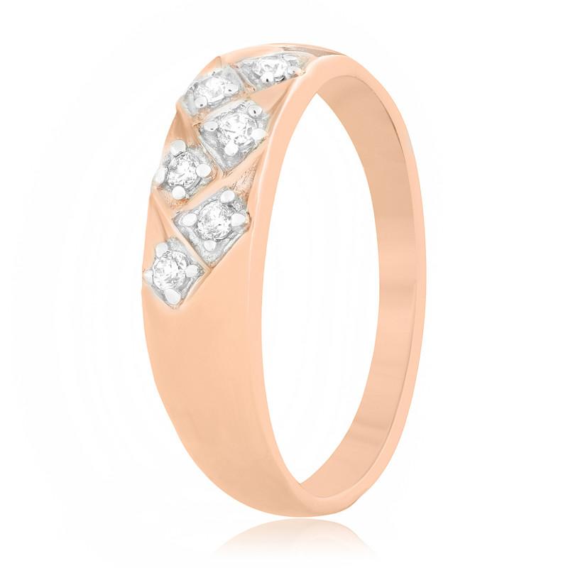 """Серебряное кольцо с позолотой недорого """"068"""""""