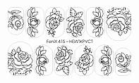 Слайдер-Дизайн - Fonix 415 - НЕИЛКРУСТ - Sweet Bloom - трафарет для рисования