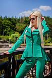 Женский стильный брючный костюм: жакет и брюки (6 цветов), фото 3