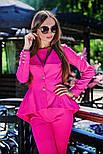 Женский стильный брючный костюм: жакет и брюки (6 цветов), фото 7