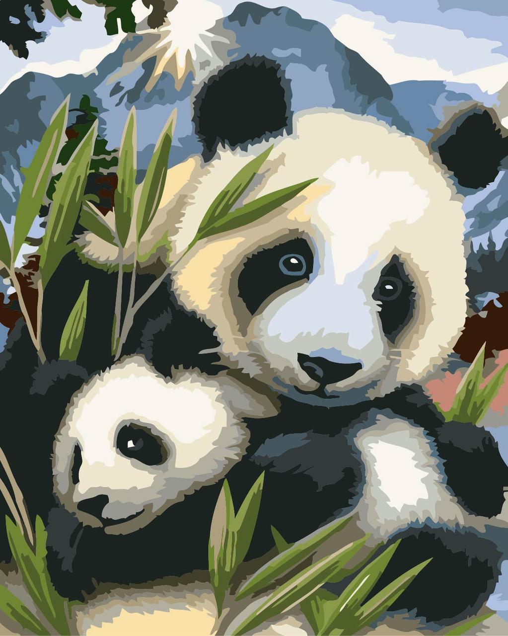 Картина по номерам Идейка Малыш панда (KHO4005) 40 х 50 см (без коробки)