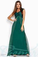 Вечернее платье сетка. Цвет изумрудный.