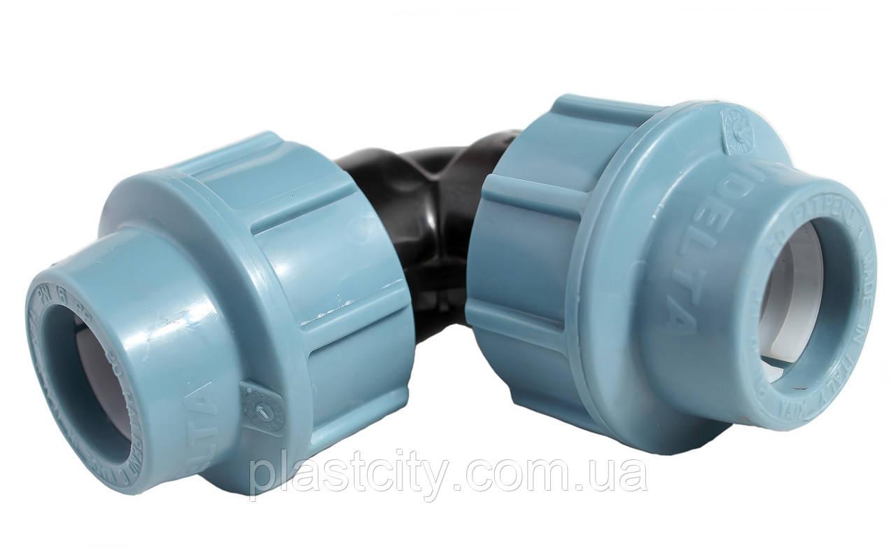Отвод компрессионный соединительный Unidelta 50x50