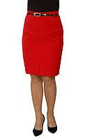 Юбка тиар с ремешком красная —  Модель 234к (без ремня)