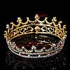 Корона кругла ТІНА, корона на голову в каменях, дитяча корона, Прикраси, фото 4