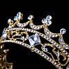 Корона кругла ТІНА, корона на голову в каменях, дитяча корона, Прикраси, фото 5