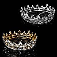 Корона круглая ТИНА, корона на голову в камнях, детская корона, Украшения