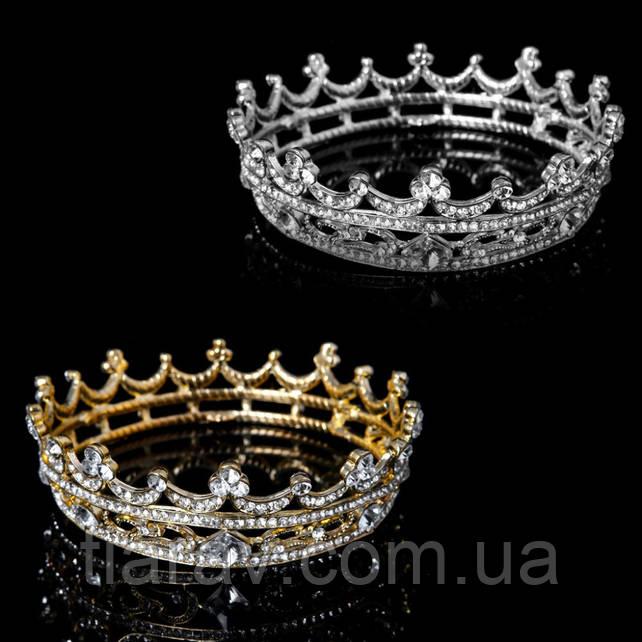 Корона круглая ТИНА корона на голову в камнях детская корона Украшения