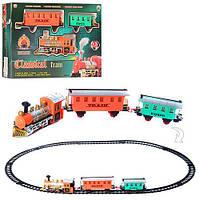 ЖД 51 локомотив, вагон 2 шт., муз., світло, бат., кор., 42,5-29-6,5 см.