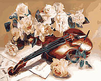 Рисование по номерам Идейка Мелодия скрипки худ. Дарья Чачева (KHO5500) 40 х 50 см (без коробки)
