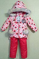 Детский зимний комбинезон для девочек.