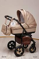 Детская коляска универсальная 2 в 1 Ammi Ajax Group Sonet New Cream