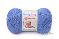 Детская полушерстяная пряжа Kartopu Woolly Baby № K-535 синий