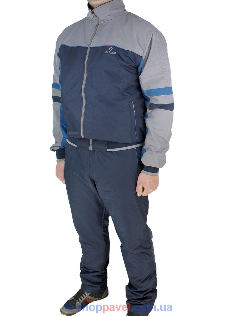 2ebf9d7069db Мужской спортивный костюм Fabiani 16КЕ8E590232 D.Blue-Gri из плащевой ткани  для настоящих ...