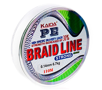 Плетенка BRAID LINE KAIDA strong YX-112-35 (зеленая)