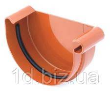 Заглушка желоба левая водосточной системы Бриза (Bryza) 125 мм кирпичный