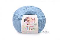 Турецкая пряжа Alize Baby Wool полушерсть светло-голубой №350