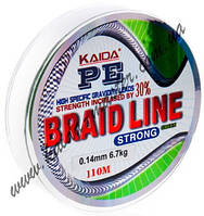 Плетенка BRAID LINE KAIDA strong YX-112-14 (зеленая)