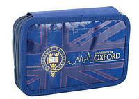 Пенал с 2-мя отворотами 1 Вересня Oxford blue 531387
