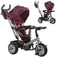 Велосипед M 3204HA-1 (1шт)три кол.,рез(12/10),поворот,быстросъем.кол./руль,муз.стол,сумка,фиолетовый