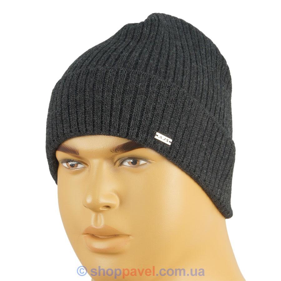 27bf3e9ab5eb Мужская шапка AJS 0160 с отворотом