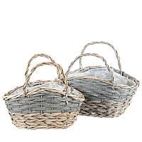 Плетеные декоративные корзины (2 шт.)